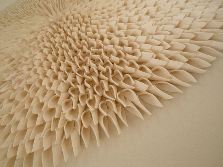 Fabric Wall Panels Decorative : Textile art felt fabric manipulation sculptural