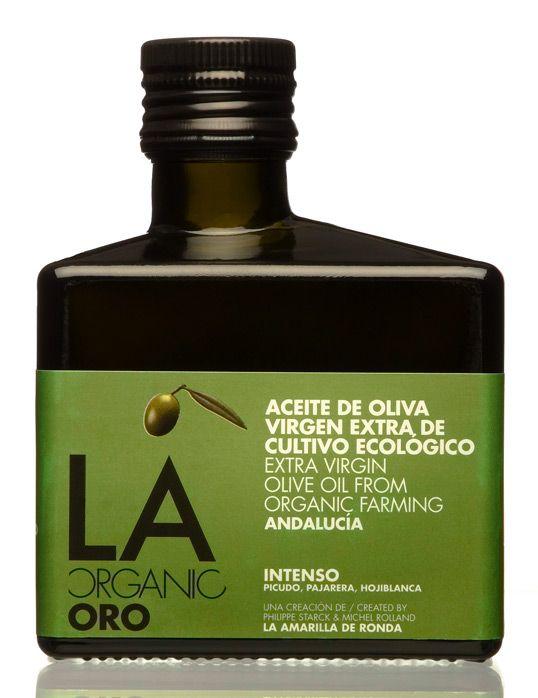 Philippe Starck,  2011  ||  Il designer francese Philippe Starck nel 2011 insieme a Michel Rolland da vita a un brand di olio organico. Il packaging è chic e originale, in puro stile Starck!