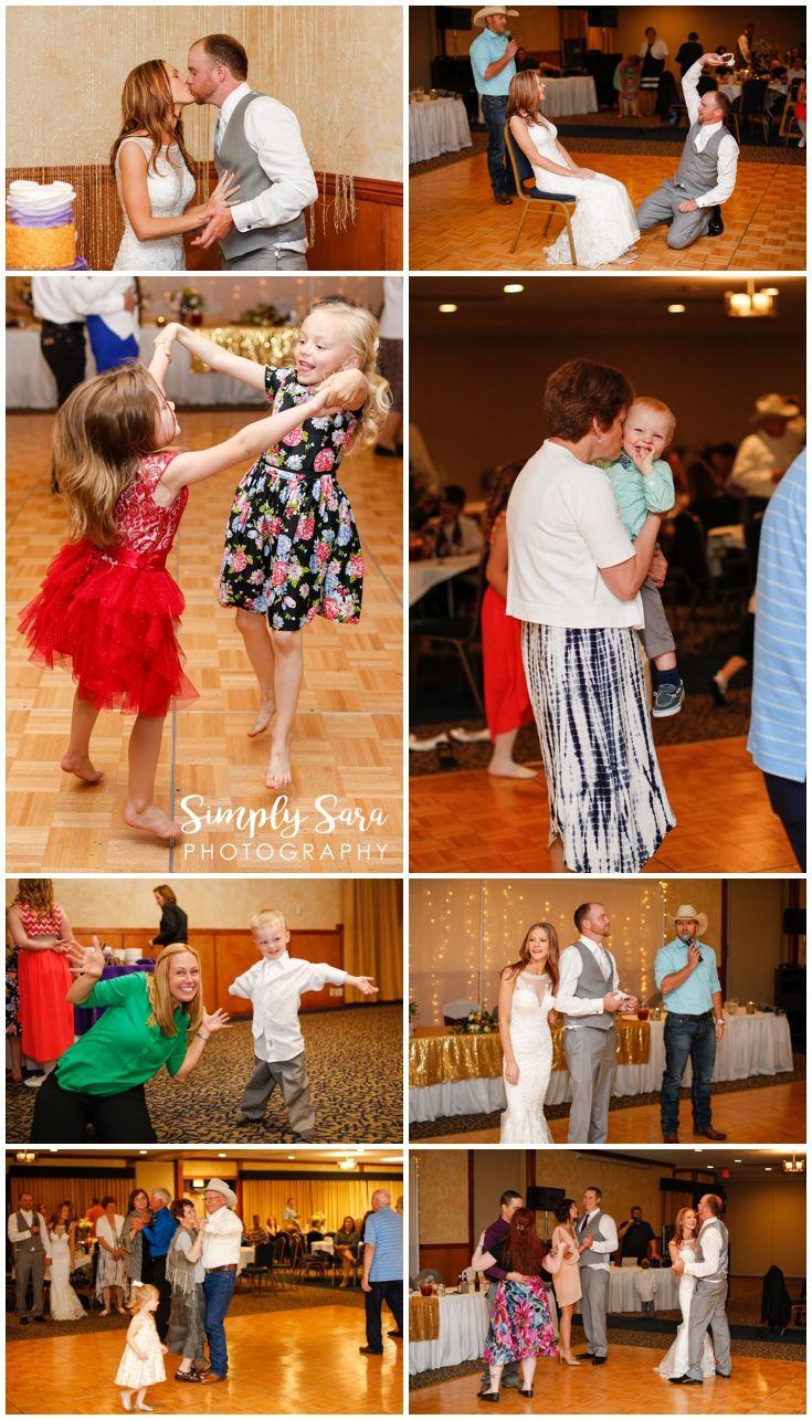 Wedding Photo Ideas - Reception - Guests Dancing - Kids - Garter Auction - Fun Photos - Billings, MT Wedding Photographer
