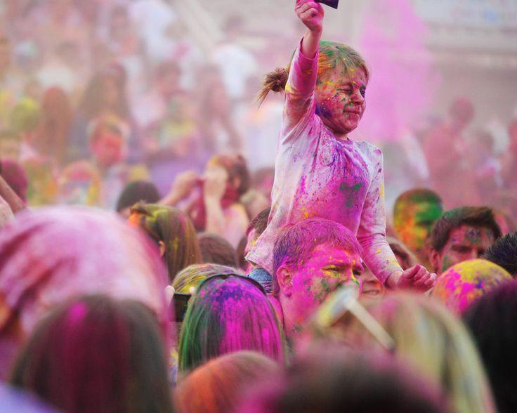 Festival of Colors at the Sri Sri Radha Krishna Temple in Spanish Fork, Utah.