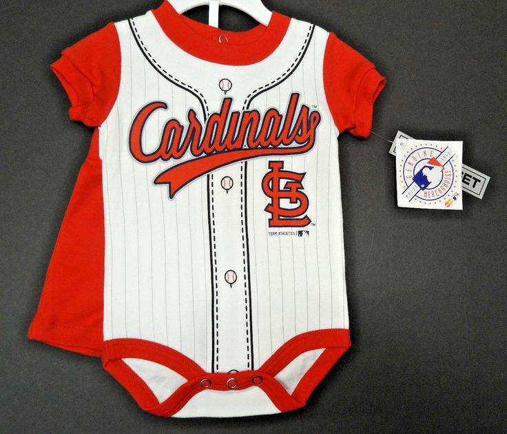St. Louis Cardinals Baseball Baby Infant Outfit 0-3M Shorts Romper NEW #GenuineMajorLeague