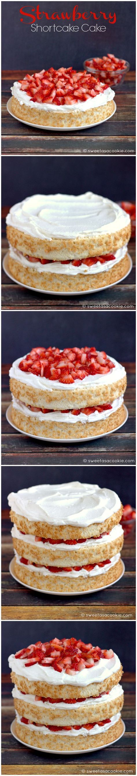 Strawberry Shortcake Cake   Sweet as a Cookie