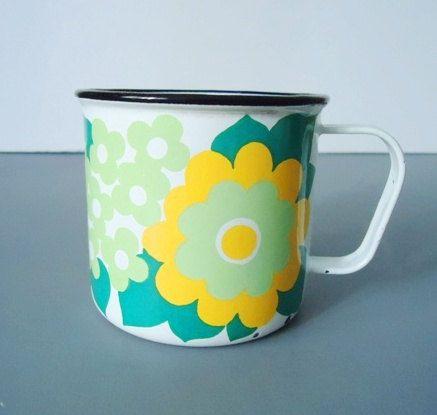 Retro Finel of Finland Mugs Rare Floral by SwirlingOrange11