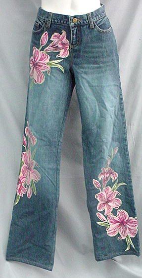 Victoria's Secret painted jeans