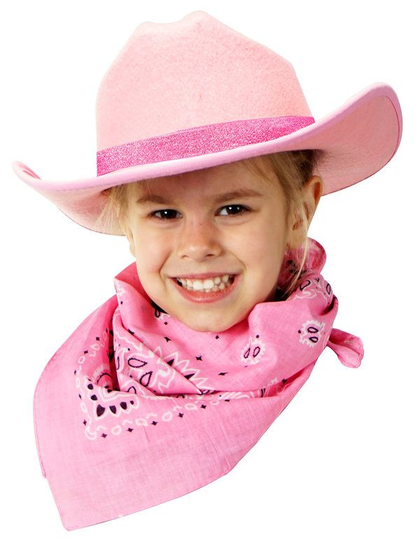 Child Cowboy Hat Sparkle Ribbon W Bandanna  79d5ac6ce7f
