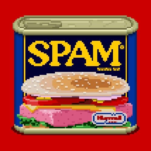 s.p.a.m pixel art