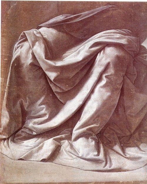 Leonard De Vinci- Etude de drapé