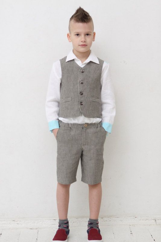 Boys Shorts Toddler Boy Linen Pants Natural Linen Shorts
