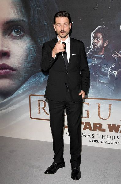 """Diego Luna attends the exclusive screening of  Lucasfilm's highly anticipated, first-ever, standalone Star Wars adventure """"Rogue One: A Star Wars Story"""" at the BFI IMAX on December 13, 2016 in London, England."""