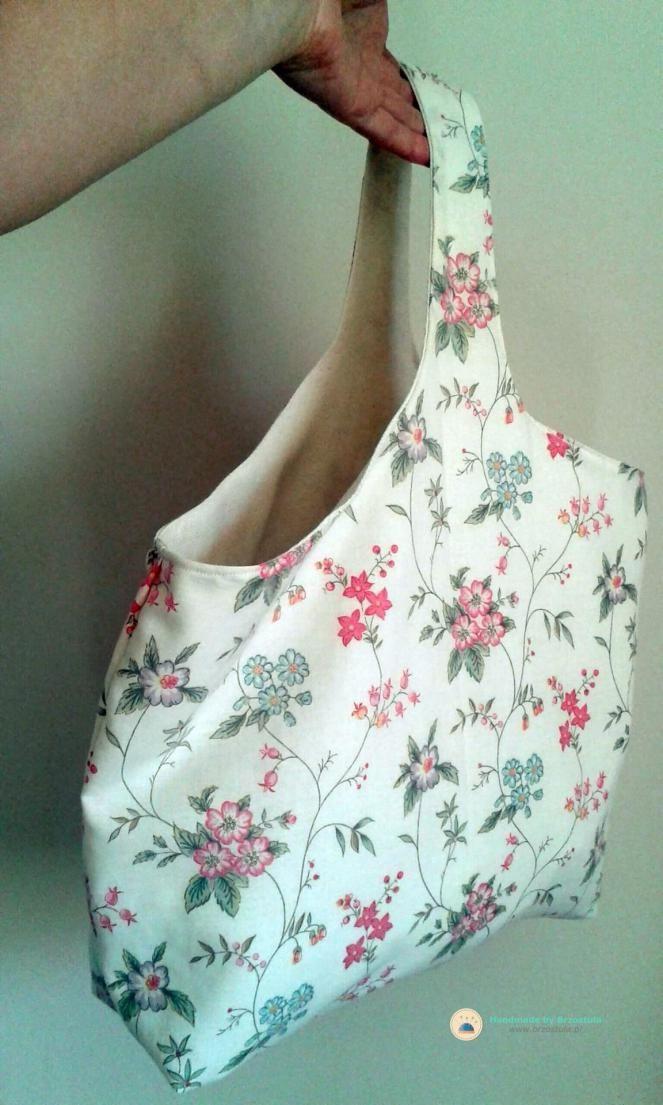dwustronna torba w kwiaty