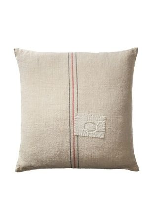 56% OFF Vintage Hungarian Seed Bag Fabric Pillow, Red