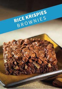 Rice Krispies Brownies – Rich, fudgey brownies made with Rice Krispies cereal.