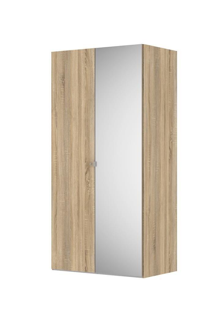 Der Kleiderschrank Keep Dekor Eiche Struktur 2 Türen von der Firma Tvilum.  Stylischer Schrank der mit seinem schlichten Design das moderne Ambiente perfekt ergänzt.  Der Schlafzimmerschrank eignet sich mit seiner Größe besonders gut für kleinere Zimmer.  Trotz seiner Größe bietet er genügend Platz für Ihre Kleidung.  #Kleiderschrank #Drehtürenschrank #2türig #Sonoma #Sonomaeiche #Tvilum #moebelpower #moebeltraeume