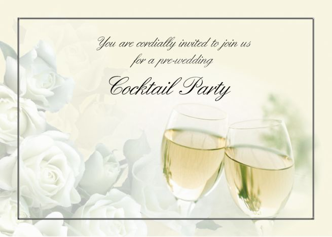 Pre Wedding Cocktail Party Invitation Card Cocktail Party
