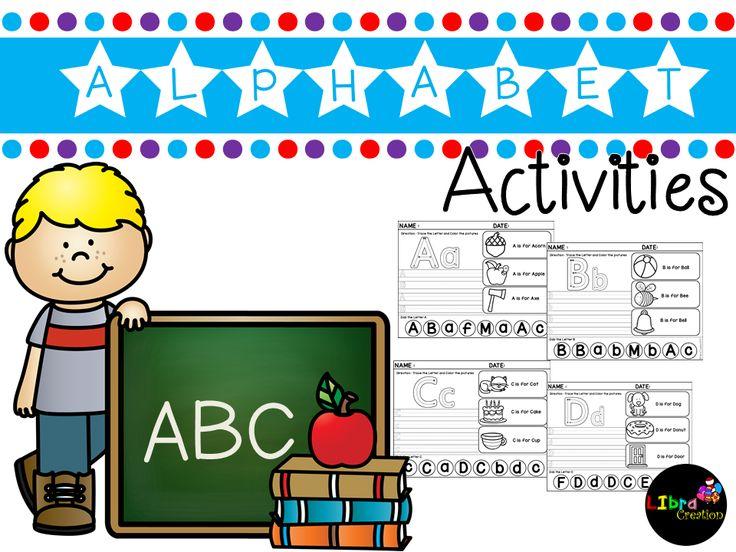 Alphabet Product, Alphabet Activities, Alphabet Fun Activities, Alphabet, Alphabet Recognize & Color, Pre-K, Kindergarten, 1st Grade