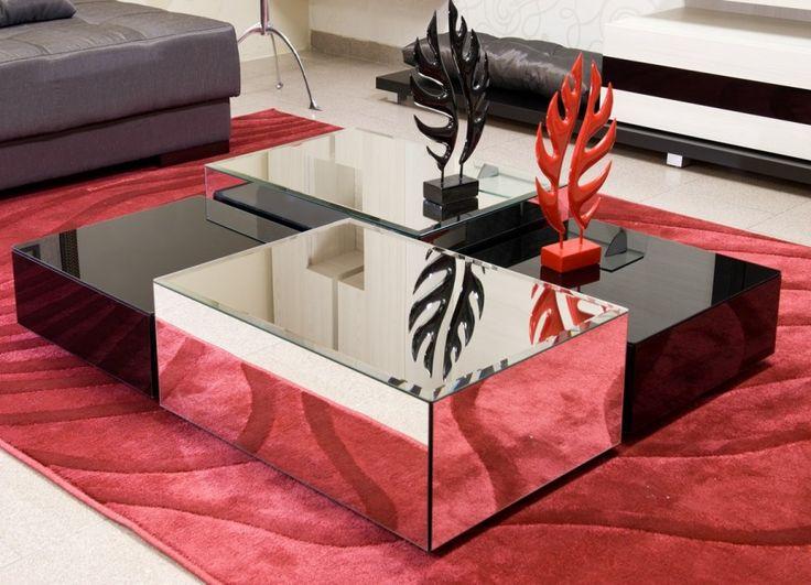 Conjunto Mesas de Centro Espelhadas - Inusual - Smart Decor