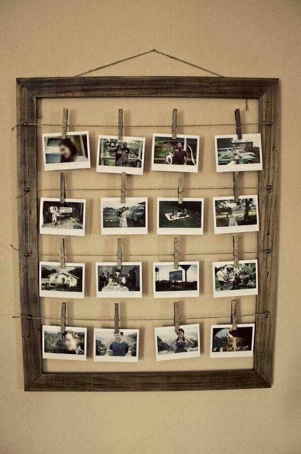 How you can transform old window frame for stunning DIY Photo frame with vintage outlook.