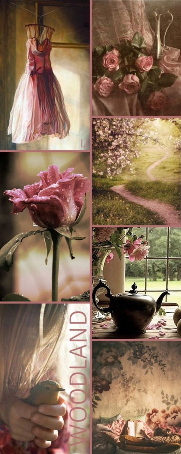 A gorgeous mood board with pinks and a dramatic feel. Inspiration for a moody pink space, it doesn't always have to be princess and super girly with pink!