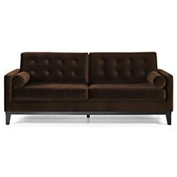 @Overstock.com   A Contemporary Design And Luxurious Velvet Upholstery  Highlight This Elegant Sofa