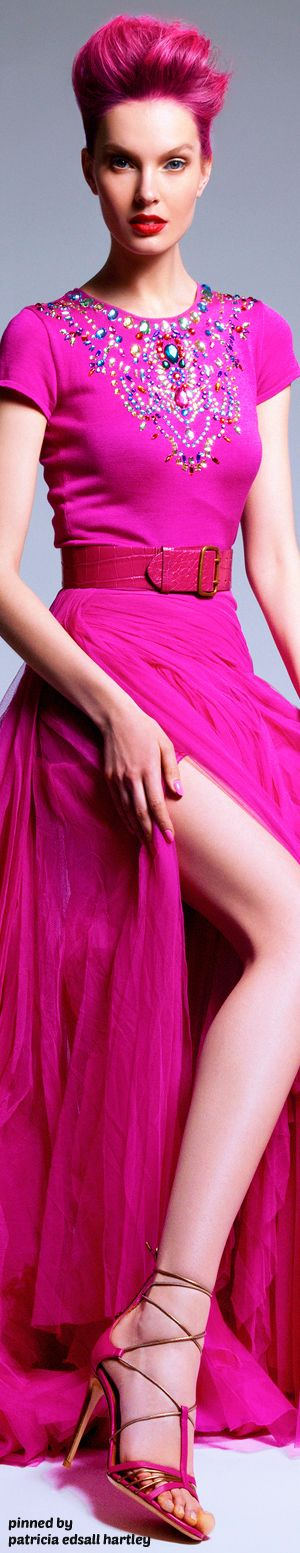 Hot Pink Evening Gown