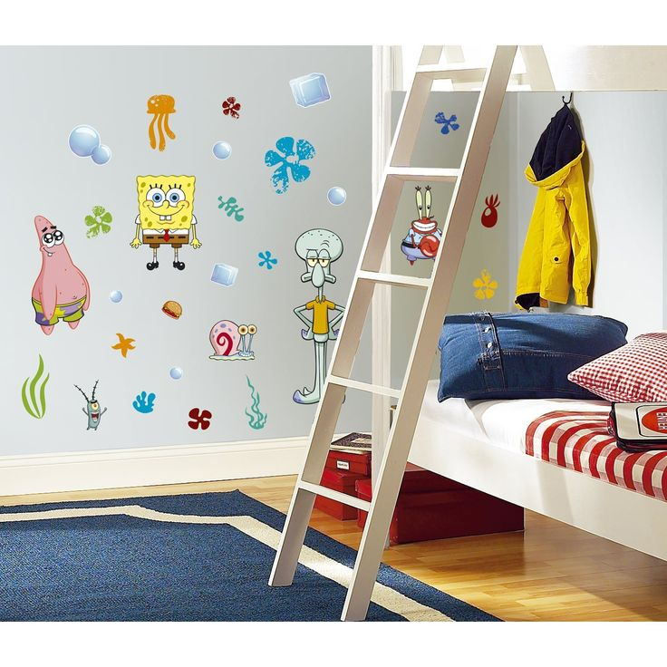 RoomMates RMK1380SCS SpongeBob Family Wall Decals Decoration for your Hom