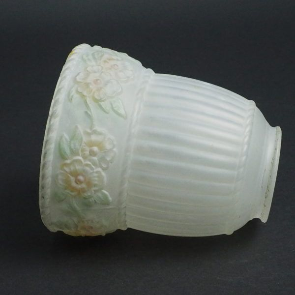 vintage reverse painted lamp shade white frosted glass lamp shade 2 14