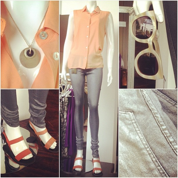 Silver jeggings by Dr Denim and Pastels. HOT!