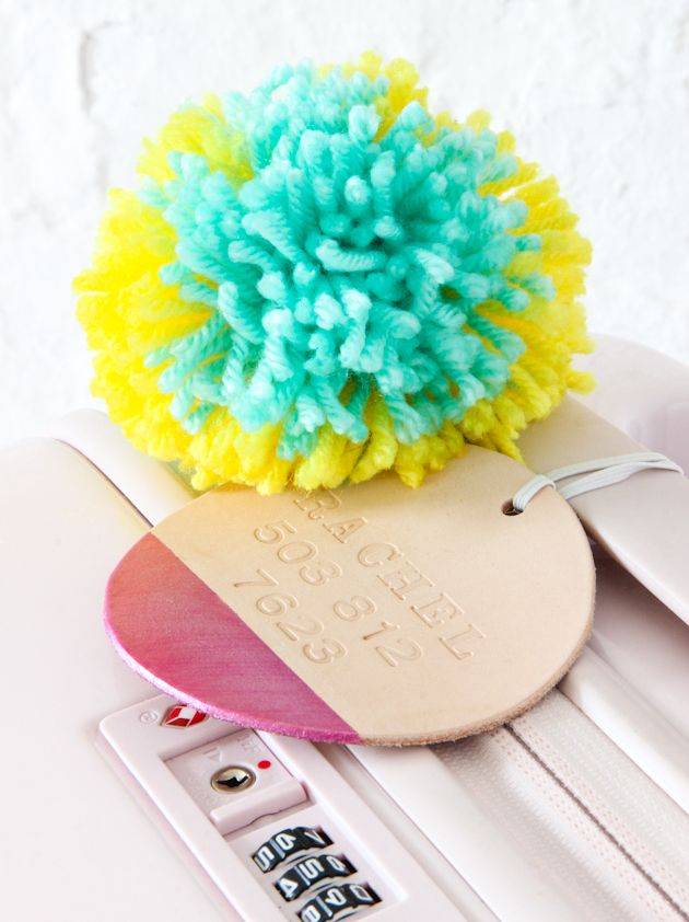DIY Color Dipped Luggage Tag