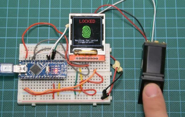Build a fingerprint locking system with Arduino Nano http://www.instructables.com/id/Arduino-Fingerprint-Sensor-Tutorial