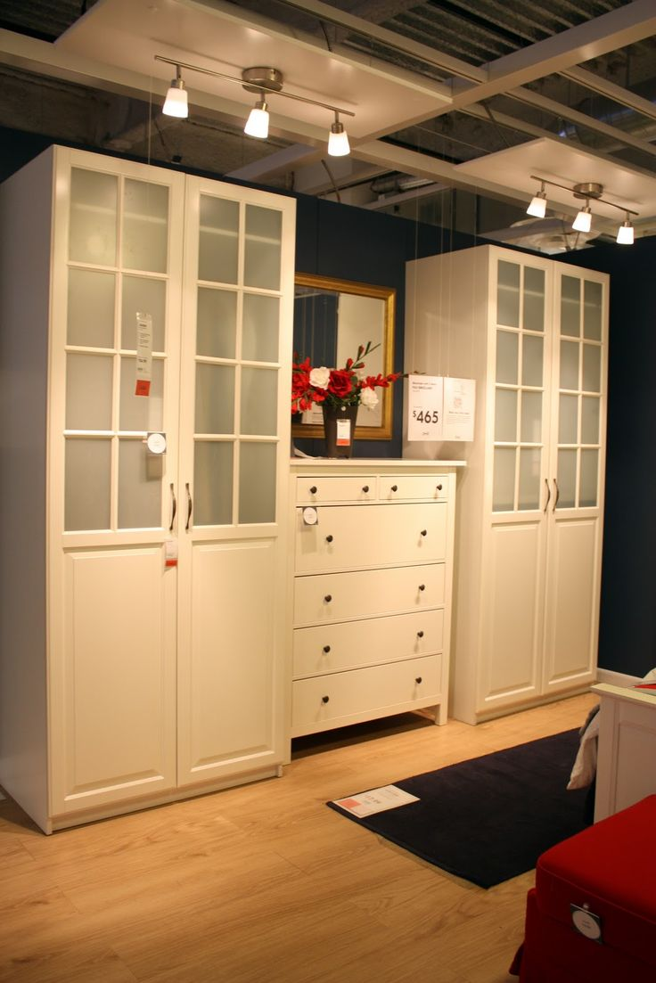 Ikea Pax Wardrobe With Birkeland Frosted Glass Doors