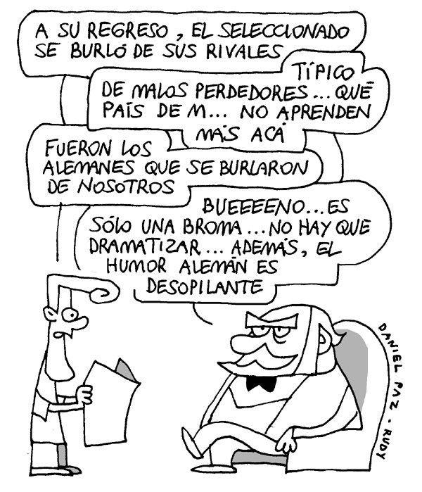 Humor alemán, por Daniel Paz - Rudy (16.07.2014)