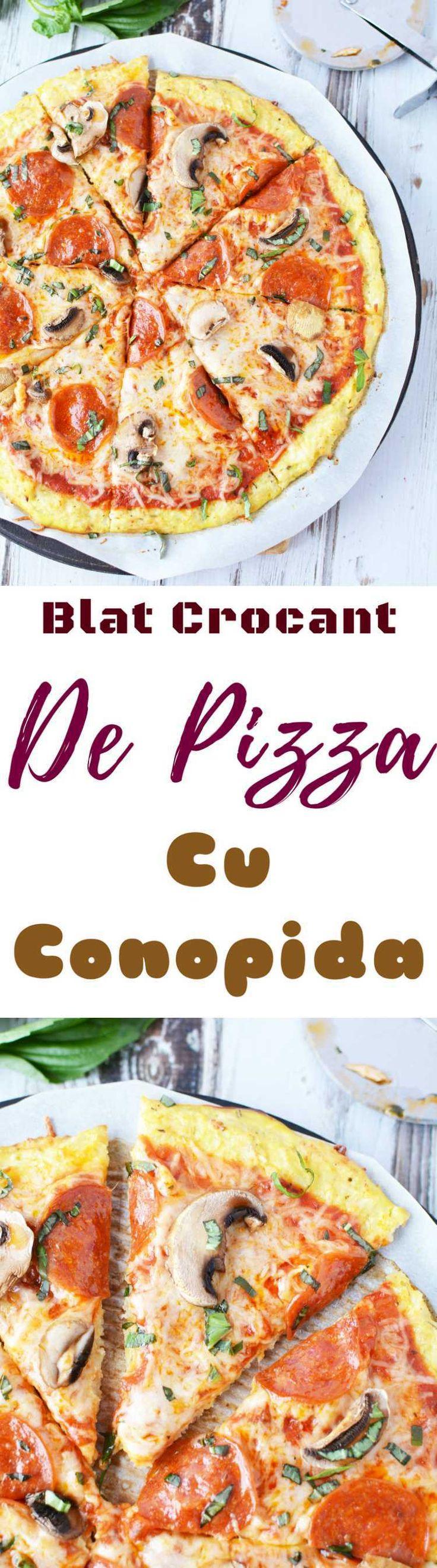 PIZZA CU BLAT DE CONOPIDA - Vrei să urmezi o dieta sănătoasă dar ti-e greu să renunți la alimentele tale preferate, care iti ofera confort alimentar? Nu si atunci când iti faci pizza preferată folosind această reteta de pizza cu blat de conopida! Crocanta si slaba in carbohidrati!