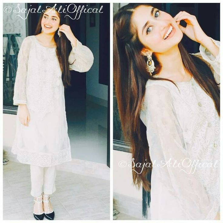 #sajjal ali #white #pakistani#white#pants