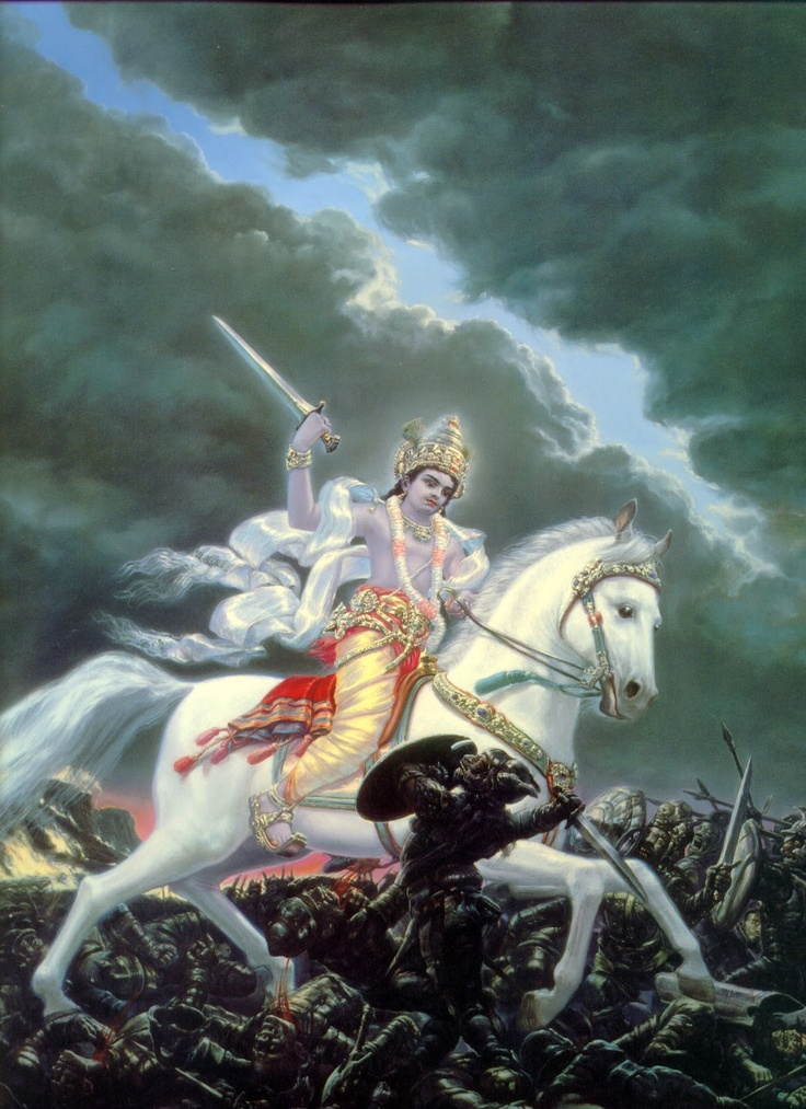 Kalki - The last Avatar of Lord Vishnu who is yet to come.