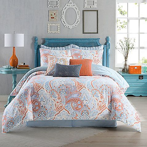 Fashion forward and fun, the Anthology Elise Comforter Set is inspired by modern trends with a beautiful all-over coral lace design.