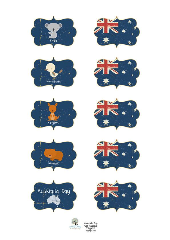 Australia Day 2012 Printables - Lovely Living - Love The Life You're Living