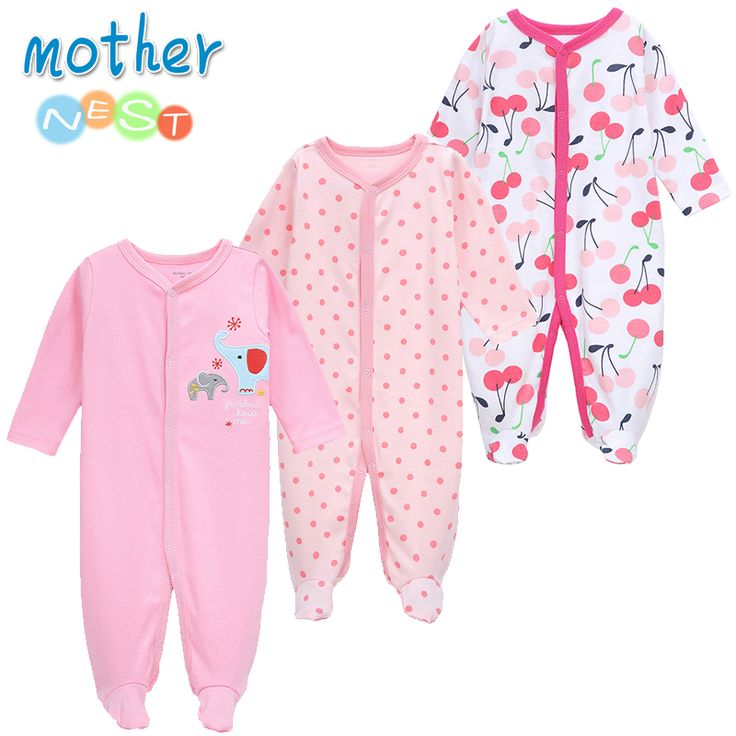Mother Nest 3 PCS LOT Baby Boy Clothes Comfortable Baby Rompers Winter Thick Climbing Clothes Newborn. Click visit to buy