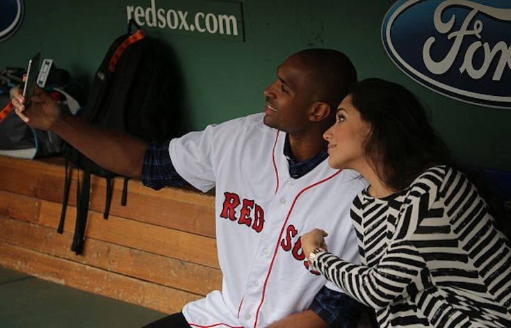 """Celtics big man Al Horford and his wife Amelia take a selfie prior to a Red Sox game this summer.  The Boston Celtics announced some eight hours before Monday night's matchupagainst the Miami Heat that star big manAl Horford would miss the game for what the team dubbed """"personal reasons,"""" and he would"""