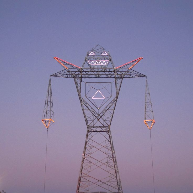 """Doma's newest intervention in Buenos Aires, Argentin called """"COLOSSUS"""" - 45 meters tall and animated."""