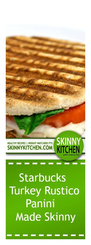 turkey rustico panini made skinny lunch sandwiches healthy sandwiches ...