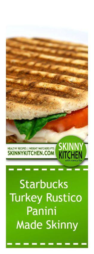 turkey rustico panini made skinny lunch sandwiches healthy sandwiches ...