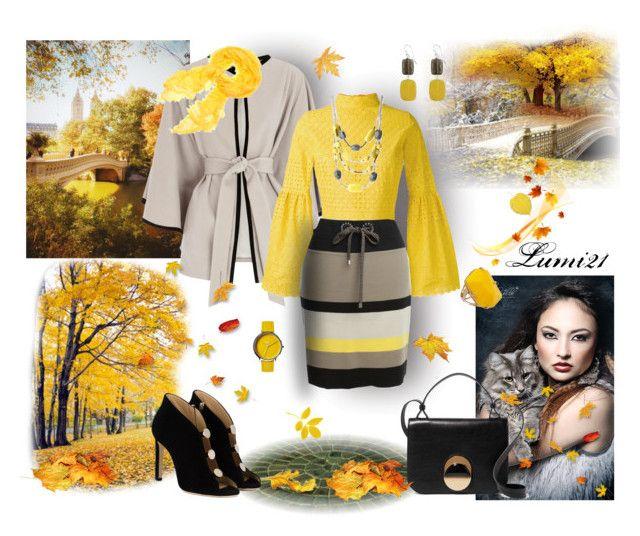yellow autumn by lumi-21 on Polyvore featuring Daizy Shely, Coast, MARC CAIN, Jimmy Choo, Marni, Kenneth Cole, Nixon, Faliero Sarti and Sabine