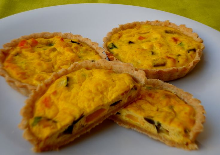 Mini quiche alle verdure - ricetta light