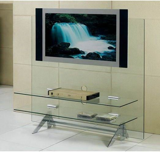 modern tv stands with wheels | Clear Glass Furniture – Captivatingly Pretty And Contemporarily ... http://www.furniturearcade.com/