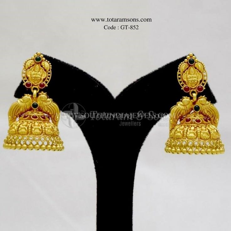 Gold Antique Jhumka From Totaram & Sons