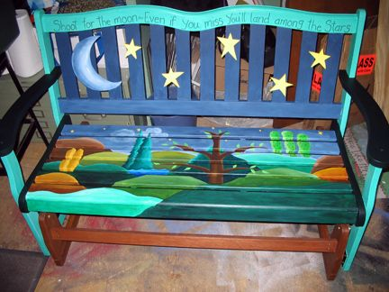 primitive art painted furniture - Google Search