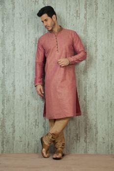 Silk kurta churidar embellished with zari work from #Benzer #Benzerworld #MensWear #IndoWesternWearForMen