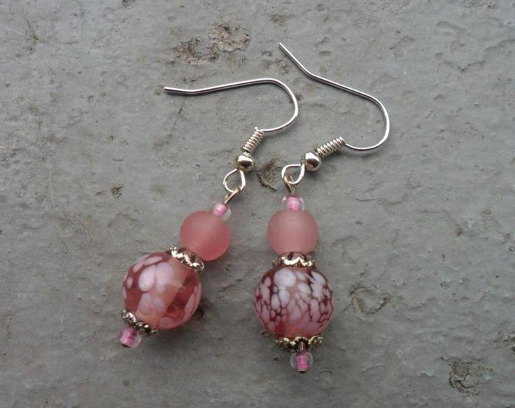 Ohrhänger - Ohrringe rosa - ein Designerstück von wollzeug bei DaWanda