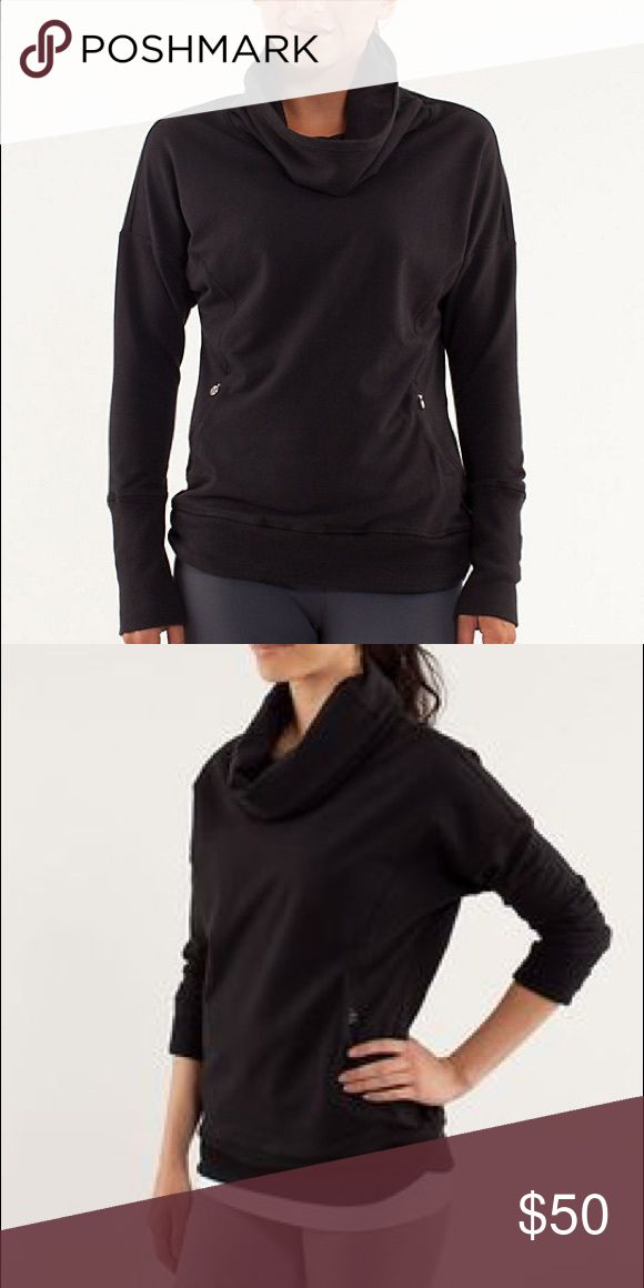 Lululemon rest day pullover Black size 4 good used condition. Wii trade for same top size 2 lululemon athletica Tops