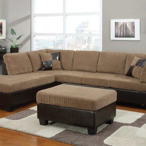 Brown Tan Sectional Sofa
